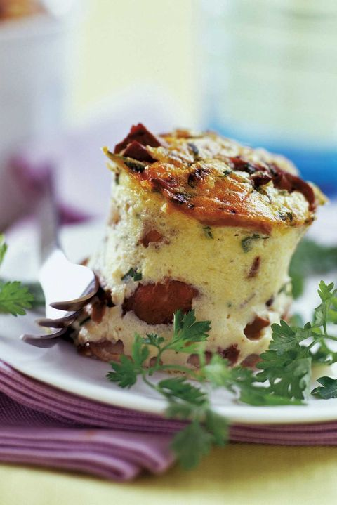 muffins de boletus y jamón