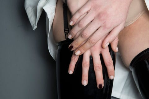 Nail, Finger, Hand, Skin, Manicure, Nail care, Joint, Material property, Muscle, Gesture,