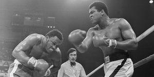 Muhammad Ali Punching Joe Frazier