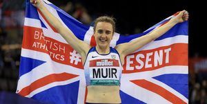 Muir breaks indoor mile record