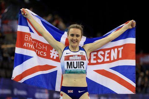Muir breaks indoor mile record