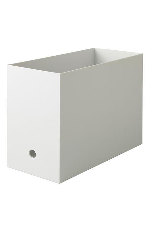 ポリプロピレンファイルボックス・スタンダードタイプ・ワイド・A4用ホワイトグレー/無印良品