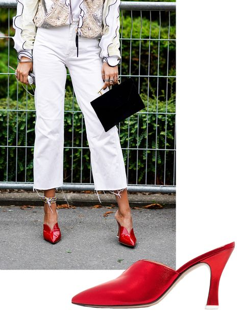 White, Footwear, Red, Street fashion, High heels, Shoe, Leg, Ankle, Fashion, Joint,