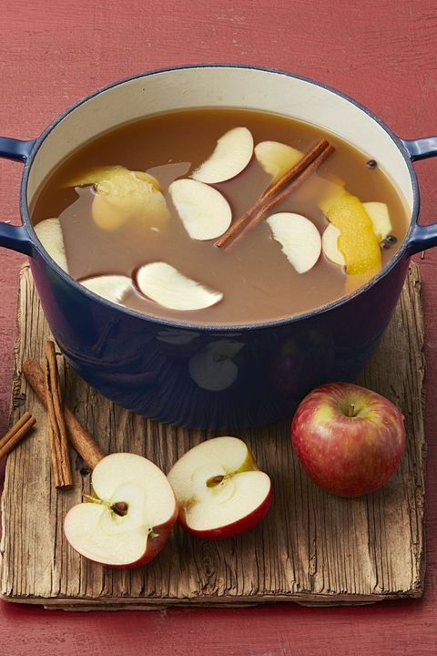 mulled maple apple cider fall cocktails