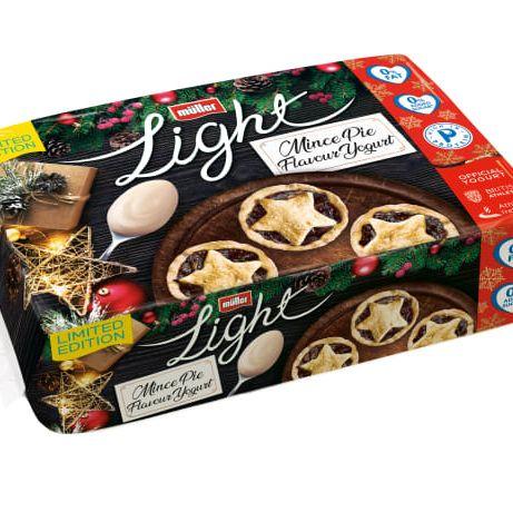 Muller light mince pie yoghurt