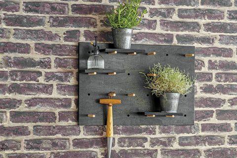 multiperchero para el jardín peg board