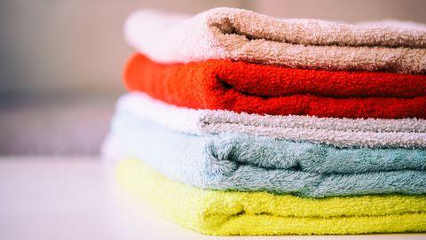 Multicolored bath towels