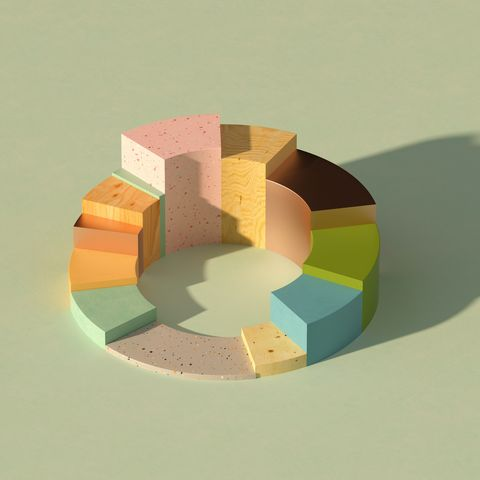 multicolored donutpie chart