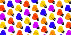 Multicolored light bulbs