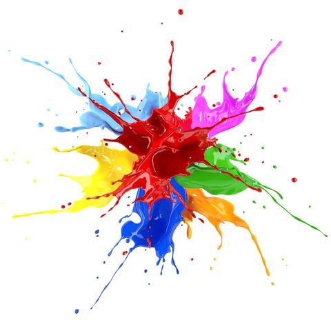 Multicolour paint explosion, illustration