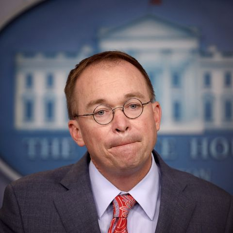 Acting White House Chief Of Staff Mick Mulvaney Briefs Press At White House