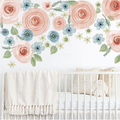 Mural floral infantil