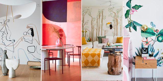 ideas para decorar las paredes con murales pintados