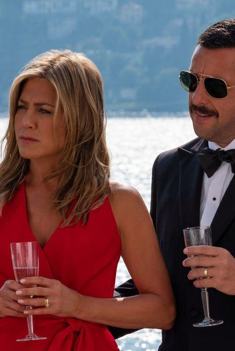 Suit, Formal wear, Event, Drinking, Vacation, Tuxedo, Eyewear, Sunglasses, White-collar worker, Honeymoon,