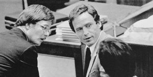 Ted Bundy with Ed Harvey in Court Room During Trial