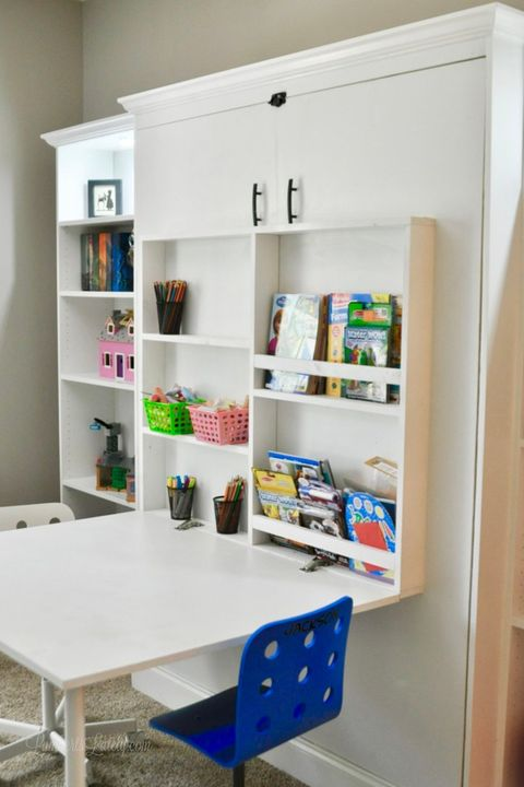 Diy Murphy Beds How To Build A Bed, How To Make A Murphy Bed With Desk