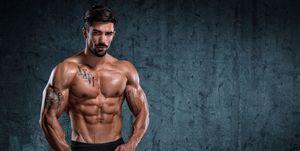Muscular men Standing Strong