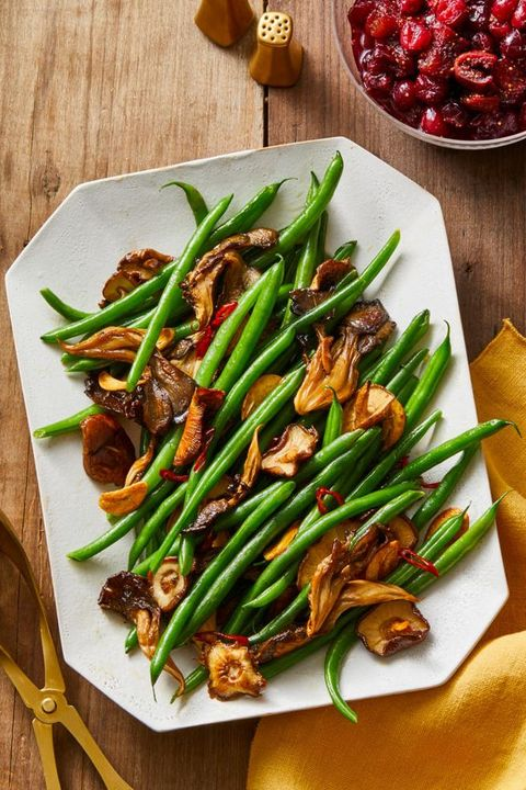 mushroom and chile garlic green beans