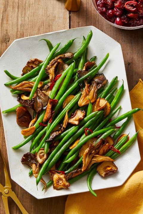 mushroom and chile garlic green beans