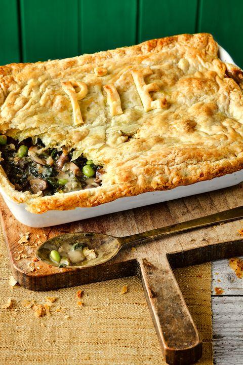 Mushroom and kale pot pie