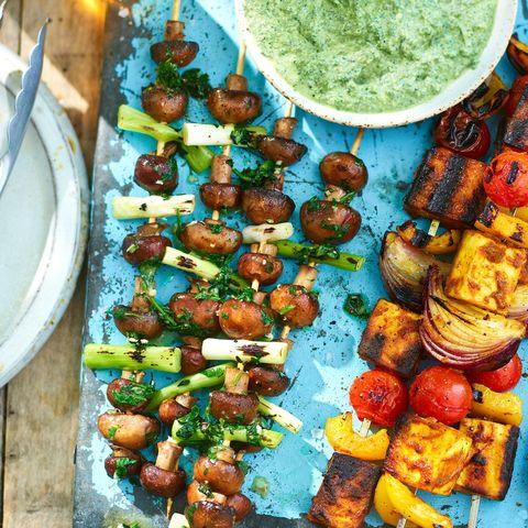 best barbecue recipes garlic and herb mushroom skewers