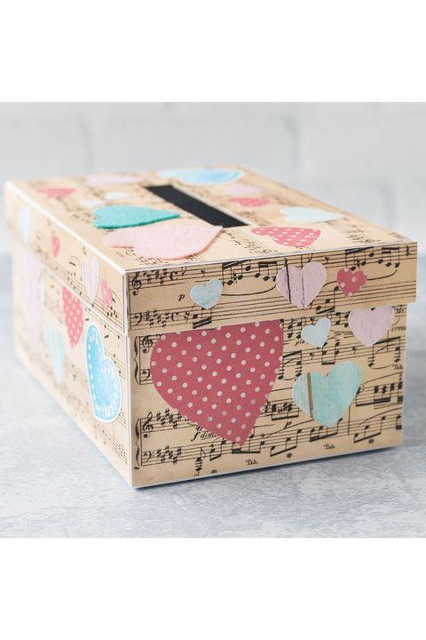 sheet music valentine's day box