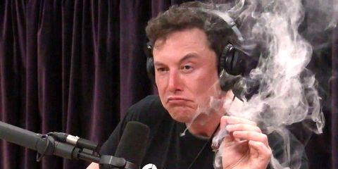 df308916b Elon Musk Smokes Weed, Plays with Flamethrower in Joe Rogan Interview