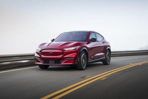 2021 ford mustang mach e red