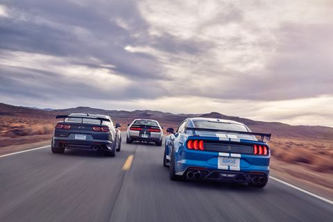 Land vehicle, Vehicle, Car, Automotive design, Performance car, Sports car, Road, Automotive exterior, Shelby mustang, Race car,