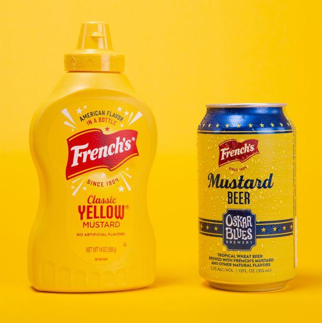 mustard beer can