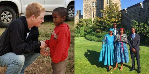 Prince Harry invited an orphan he met in Africa 14 years ago to his wedding