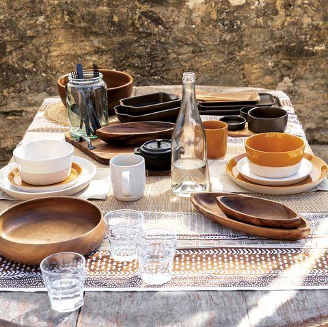 menaje de mesa tribal
