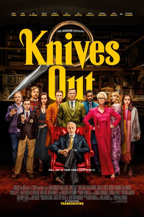 knives out 2019 movie poster