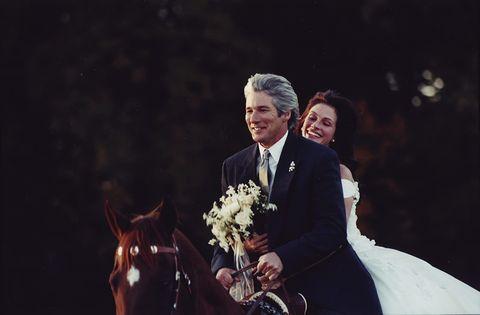 Photograph, Wedding, Suit, Ceremony, Formal wear, Wedding dress, Event, Bride, Dress, Marriage,