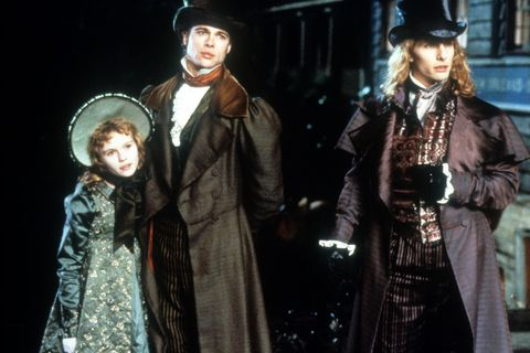 kirsten dunst, brad pitt and tom cruise in a scene from the film 'interview with the vampire the vampire chronicles', 1994 photo by warner brothersgetty images