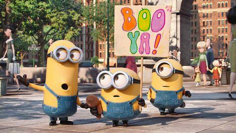 Animated cartoon, Cartoon, Yellow, Animation, Street, Toy, Mascot, Smile, Road,