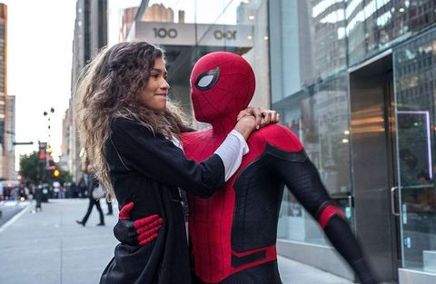 Red, Interaction, Spider-man, Snapshot, Hug, Fictional character, Superhero, Cosplay, Costume, Photography,