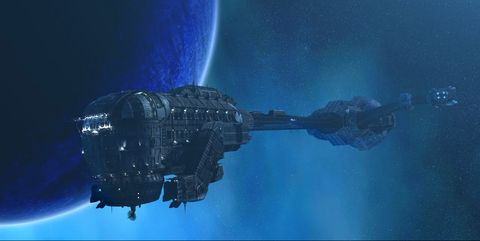 Space station, Space, Spacecraft, Atmosphere, Outer space, Sky, Screenshot, Vehicle, Satellite,
