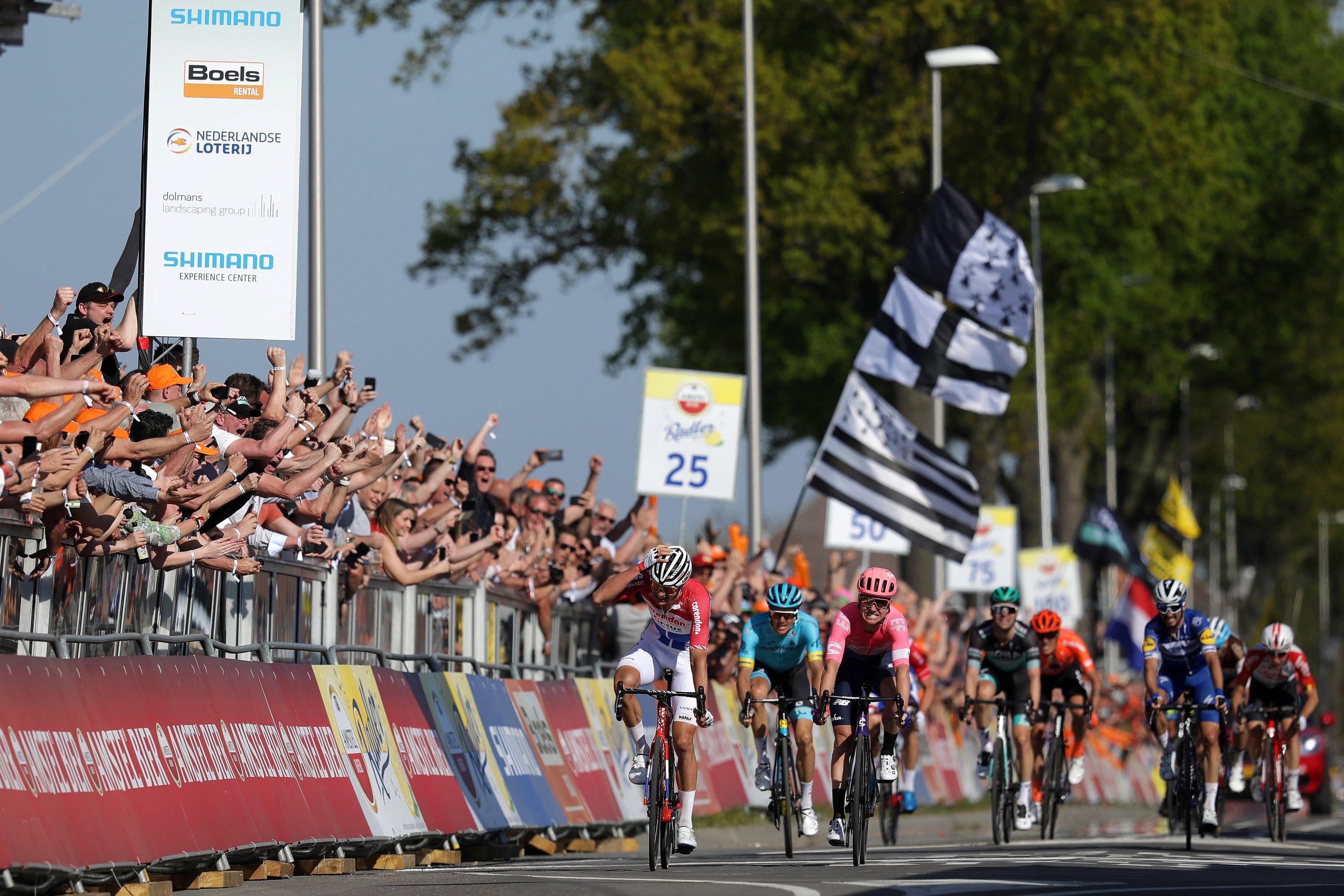 Mathieu van der Poel wint de Amstel Gold Race