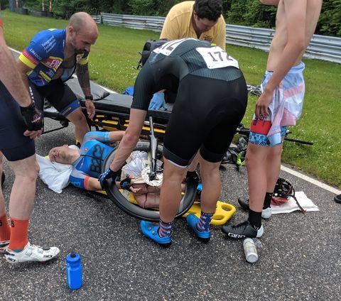 thru axle lever accident