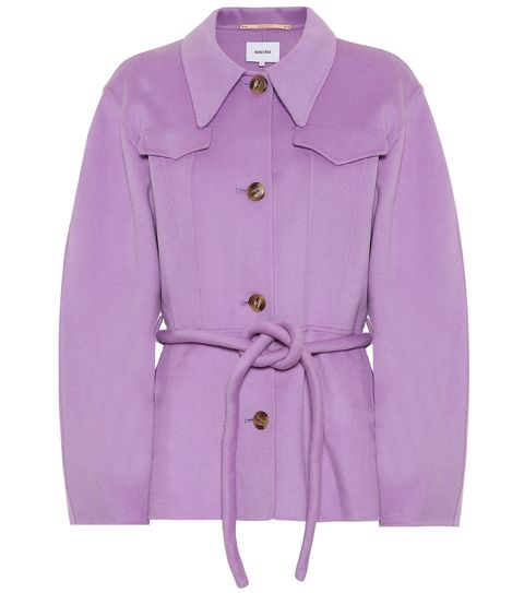 Clothing, Outerwear, Violet, Coat, Sleeve, Lilac, Purple, Pink, Jacket, Overcoat,