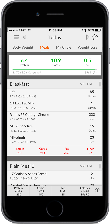 MyMacros Food Tracking App