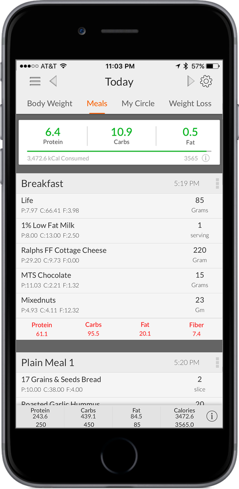 MyMacros Food Tracking App