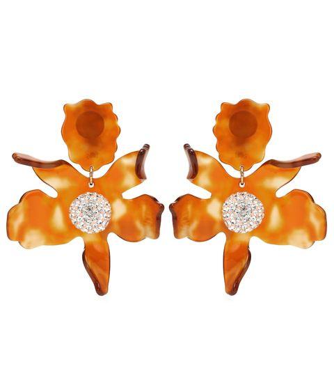 Jewellery, Orange, Earrings, Fashion accessory,