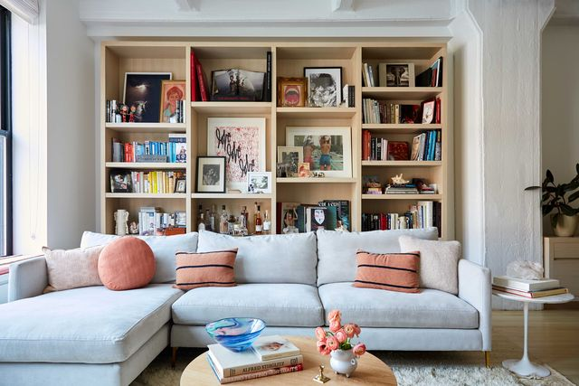 bookcase, living room