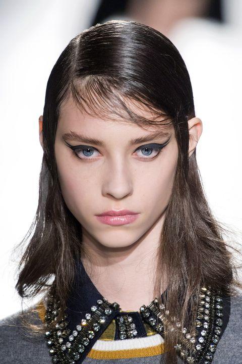 Hair, Eyebrow, Hairstyle, Face, Fashion model, Lip, Fashion, Beauty, Chin, Eye,