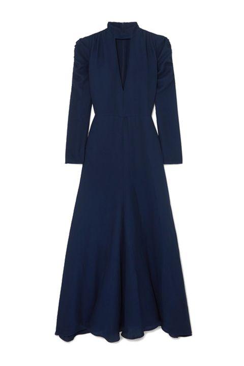 CHLOÉRuched cutout silk-blend crepe gown