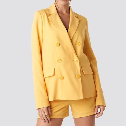 oversized blazer met bijpassende korte broek
