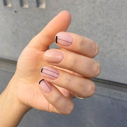 Nail, Nail polish, Finger, Manicure, Nail care, Cosmetics, Skin, Hand, Peach, Beige,