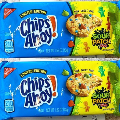 Wondrous Chips Ahoy Just Released Sour Patch Kids Cookies And We Dont Funny Birthday Cards Online Fluifree Goldxyz